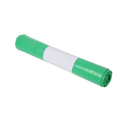 Plastic zak 70x110 cm groen