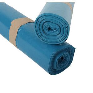 Vuilniszak blauw 70x110cm - 22micron - 300 stuks