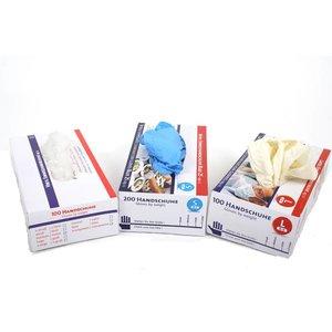 Latex wegwerp handschoen gepoederd / per 1.000 stuks