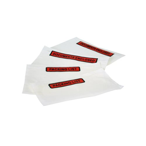 Paklijst enveloppen per 1.000 stuks
