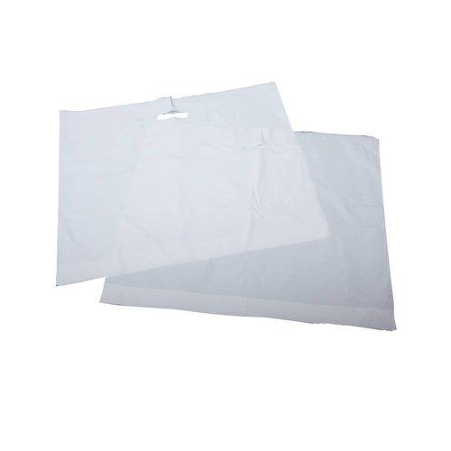 Plastic tas 60x61+2x4 cm wit / 200 stuks