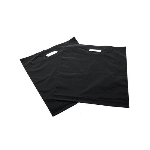 Plastic tas 35x44+2x4 cm zwart / 500 stuks