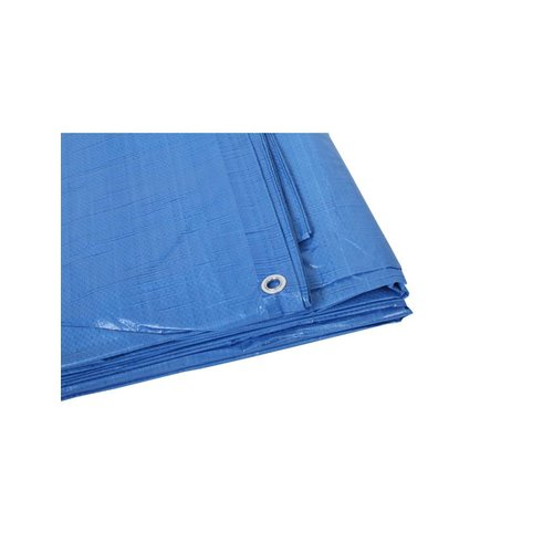 Afdekzeil 250 gr/m2 8x10 meter blauw