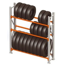 Storage rack for tyres single row
