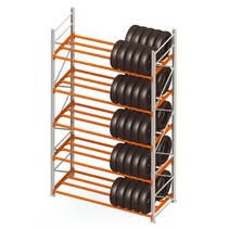 Storage rack for tyres double row