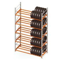 Storage rack for tyres double row