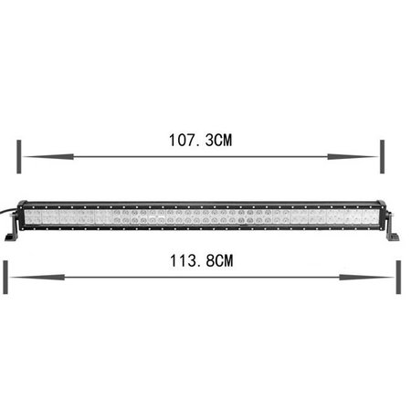 SalesBridges LED 240W Werklamp 5D Bar Balk CREE Chip 28000lm 6000K IP65