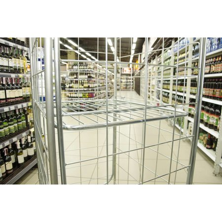 SalesBridges Nestable Roll Container with 4 sides RENTAL