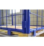 SalesBridges Opzetrand staal H800mm klapraam en europallet VERHUUR