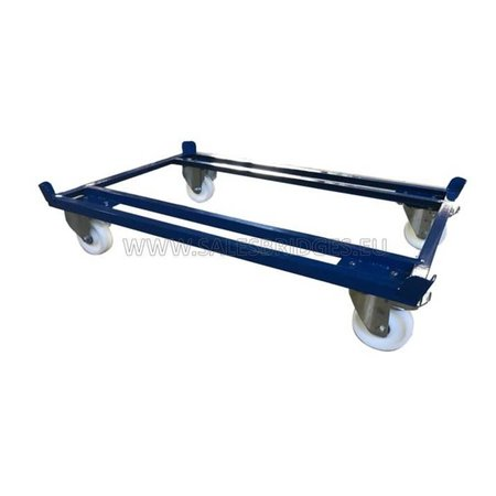 SalesBridges Pallet Dolly 500kg for Pallets, Containers and Mesh Containers 1200x800mm