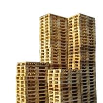 45 x Industriele Pallets Gebruikt met 7 deklatten