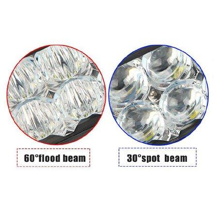 SalesBridges Lampe de travail à LED 54W 5D Barre de projecteur CREE puce 7000lm 6000K IP68
