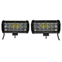 LED 36W set 2 pièces Lampe de travail 5D Bar Beam CREE Chip 4900lm 6000K IP65