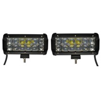 LED Worklamp 36W set of 2 pieces 5D Floodlight Bar CREE Chip 4900lm 6000K IP68