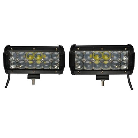 SalesBridges  LED 36W set 2 pièces Lampe de travail 5D Bar Beam CREE Chip 4900lm 6000K IP65