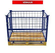 Cage Container steel H800mm folding window with europallet RENTAL