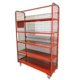 SalesBridges Order Picking Mesh Shelf Trolley Rollcontainer