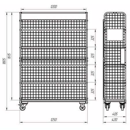 SalesBridges Order Picking Etagewagen Gaaswanden Rolcontainer RAL5015