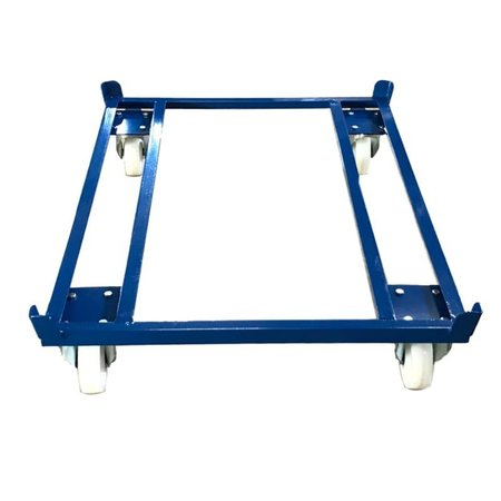 SalesBridges Pallet Dolly 1000kg for Pallets, Containers and Mesh Containers 1200x800 mm