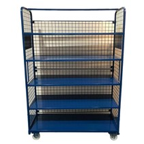 Order Picking Mesh Shelf Trolley Rollcontainer RAL5015