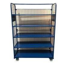 Order Picking Mesh Shelf Trolley Rollcontainer