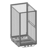 SalesBridges Heavy Duty Cage Container steel H1600mm folding window with steel base