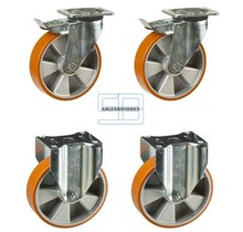 Heavy Weight Wheel set tipper containers PU wheels 160 mm diameter