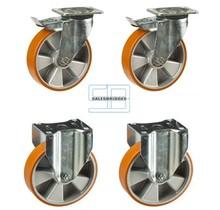 Zwaar last Wielen set kiepbakken PU wielen 160 mm diameter