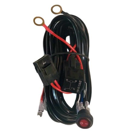 SalesBridges Universal Wire Harness with Relay for LED Worklamp