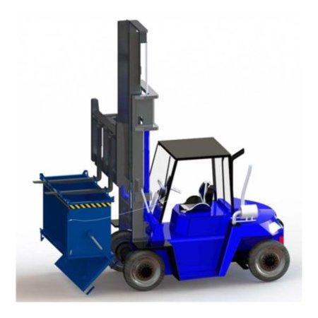SalesBridges Onderlosser 500L met Hijsogen Bodemklep Container Voor Heftruck en Kraan BB-model
