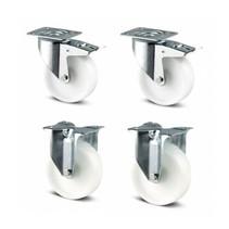 Wheels set nylon 125 mm diameter