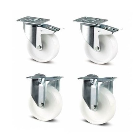 CASCOO Wielen set nylon 125  mm diameter
