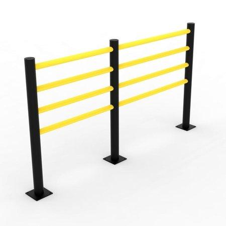 Traffic barrier SAFETY FENCE 4 beams d-flexx Delta 1600 mm