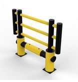 Traffic barrier MACHINE PROTECTIVE FENCE d-flexx KILO