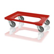 Euro Container Transport dolly KLT Eurobox 60x40 cm Red