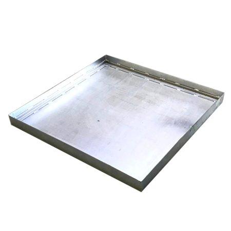 SalesBridges Retention Basin of Steel 90x90x7 cm capacity 56L