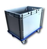 SalesBridges Plateau roulant plastique porte-bacs 60x40 cm Bleu