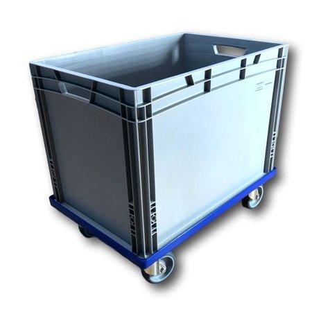 SalesBridges Plastic Transport dolly for Euro Container EUROBOX 60x40 cm Blue