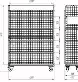 SalesBridges Order Picking Etagewagen Magazijnwagen Rolcontainer met Eurokratten Euroboxen