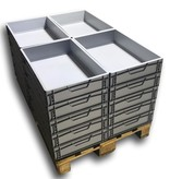 SalesBridges  Eurokrat Universeel  60x40x12 Euronorm Bakken Eurobox box Superdeal