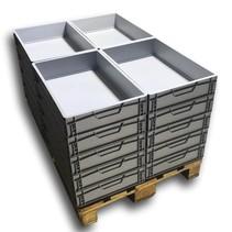 20 x Eurobox  60x40x12 cm closed handle Eurocontainer KLT box