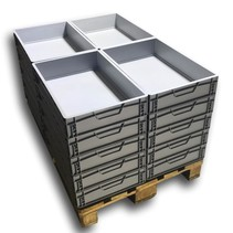 BULK Eurobox  60x40x12 cm closed handle Eurocontainer Container