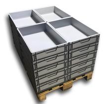 Eurobox Universal 60x40x12 cm closed handle Eurocontainer box Superdeal