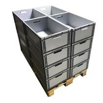 16 x Eurobox Universal 60x40x22 cm open handle Euro container KTL box Superdeal