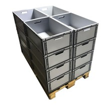 Eurobox 60x40x22 cm open handle plastic container