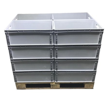 SalesBridges  Eurobox Universal 60x40x22 cm open handle Euro container KTL box Superdeal