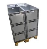 SalesBridges Stapelbakken 60x40x32 cm Eurobox Kratten Kunststof Container
