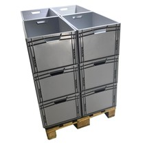 Bulk Eurobox  60x40x32 cm open handle Eurocontainer KLT box Superdeal