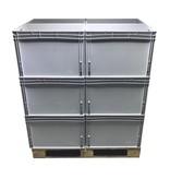 SalesBridges Eurobox 60x40x42 cm open handle plastic container