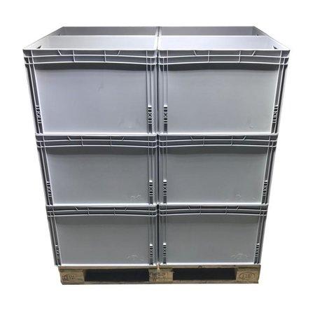SalesBridges Bac de rangement  60x40x42 cm conteneur en plastique